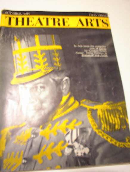 OCT 1957 ISSUE THEATRE ARTS PETER USTINOV COV