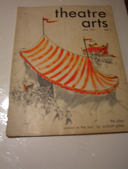 JUNE 1951 THEATRE ARTS MAGAZINE NICE COVER