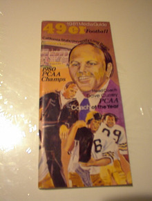 1981 49ER MEDIA GUIDE DAVE CURREY COVER