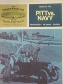OCT 25,1975 PITT vs NAVY PROGRAM    NICE L@@K