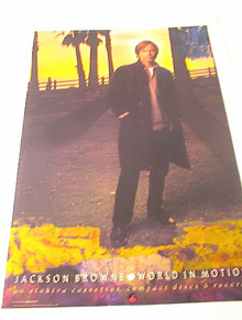 1989 JACKSON BROWN WORLD IN MOTION ALBUM POST
