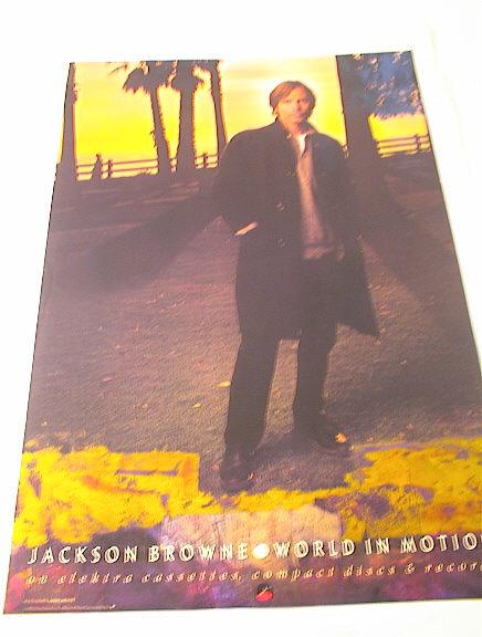 1989 JACKSON BROWN WORLD IN MOTION ALBUM POST