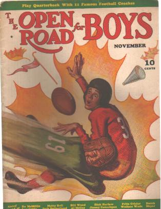 The Open Road for Boys 11/1939 Football Issue