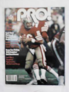 FEBRUARY 1982 ISSUE OF PRO JOE MONTANA COVER