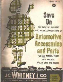 JC Whitney Automotive Accessories Parts 1967