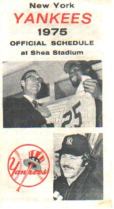 Yankees 1975 Official Shea Stadium Schedule