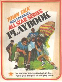 Town Talk Football All Star Playbook 1975