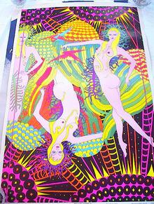 1969 CELESTIAL ART MOON GIRLS POSTER