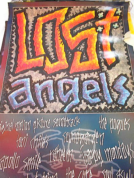 1989 LOST ANGELS SOUNDTRACK POSTER