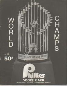 Phillies vs Pirates Score Card Program 1981