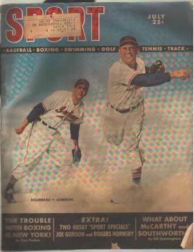 Sport Mag 7/1949 Boudreau & Gordon cover