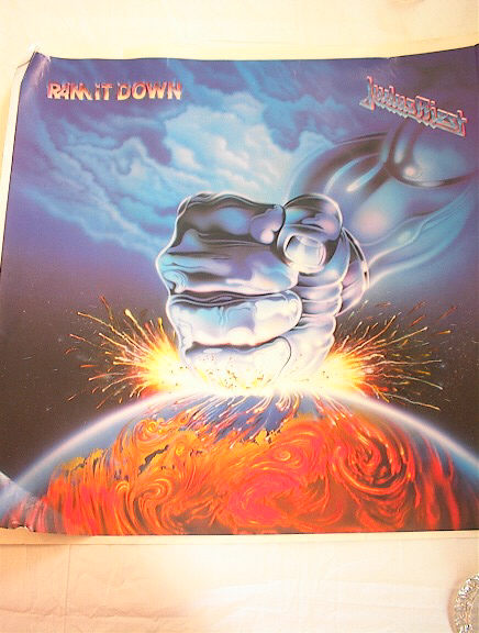 1988 JUDAS PRIEST RAM IT DOWN ALBUM POSTER