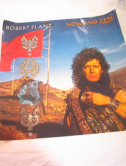 ROBERT PLANT NOW AND THEN ALBUM POSTER