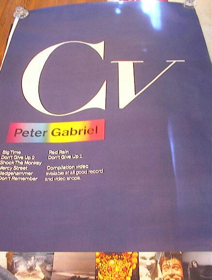 GREAT BIG PETER GABRIEL CV ALBUM POSTER