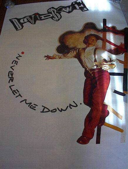 DAVID BOWIE NEVER LET ME DOWN ALBUM POSTER