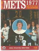 NY Mets Yearbook 1977 w fold out team photo