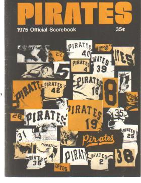 Pgh Pirates Scorebook 1975 Jersey #'s cover