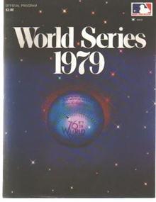 World Series 1979 Official Program Excellent