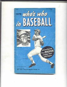 Who's Who In Baseball,1972,Vida Blue on cover