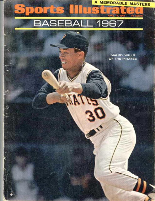 Sports Ill. April,'67, Maury Wills/Pirates