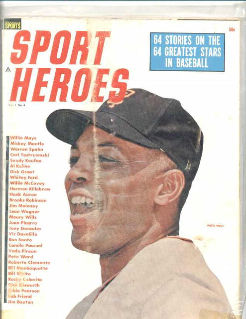 Sports Heroes,1964,Willie Mays cover
