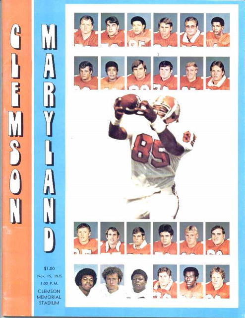 '75 Clemson vs. Maryland Official Program