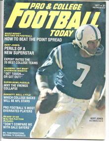 Pro & College Football/Bert Jones cov.'77