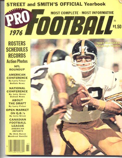 1976 Pro Football Yearbook/Bradshaw cover