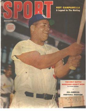 Sport Mag 10/1953 Roy Campanella cover