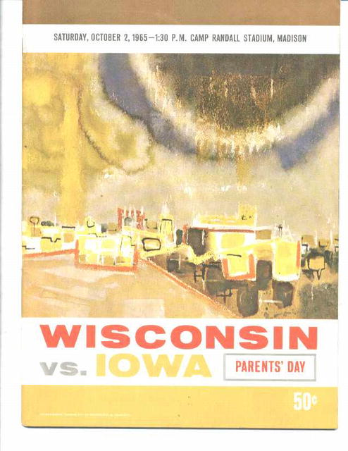 '65 Wisconson Badgers vs.Iowa Hawkeyes prog.