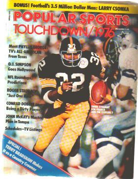 Popular Sports Touchdown 1976 Franco Harris