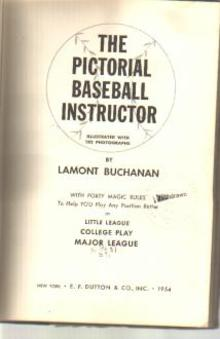 Pictorial Baseball Instructor 182 photos 1954