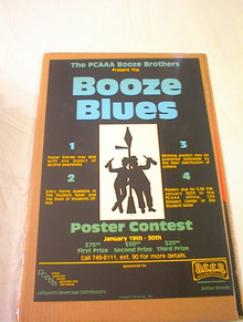 THE PCAAA BOOZE BROTHERS BOOZE BLUES POSTER