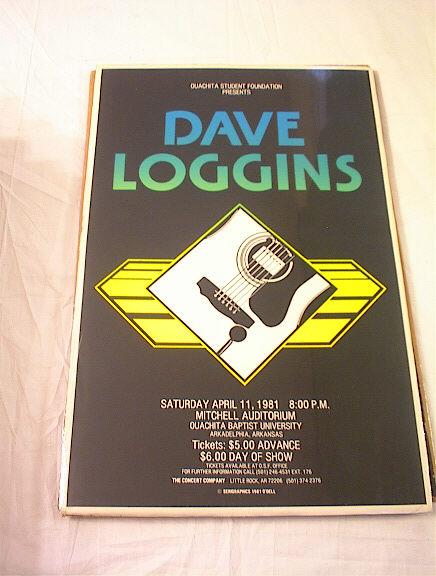 1981 DAVE LOGGINS CONCERT POSTER