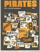 Pgh Pirates vs NY Mets 1975 scorebook VG