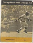Pirates v Philies 1971 scorebook Clemente