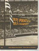 Pirates v Atlanta 71 scorebk 3 Rivers Stadium