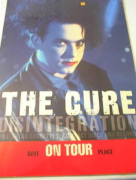 1989 THE CURE DISINTEGRATION TOUR POSTER