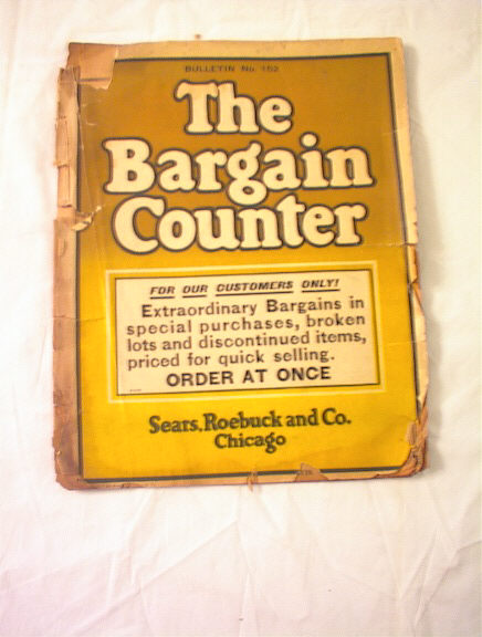 1915 THE BARGAIN COUNTER no.152 BULLETIN