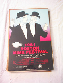 1981 BOSTON MIME FEATIVAL POSTER