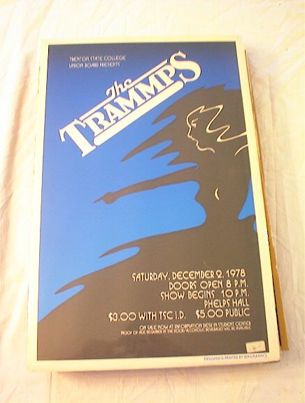 COOL  1978 THE TRAMPS CONCERT POSTER