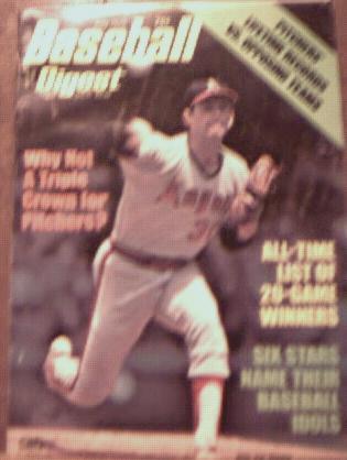 Baseball Digest July 1975 Nolan Ryan cover