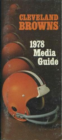 Media Guide- Cleveland Browns, 1978
