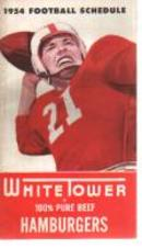 1954 College Football Schedules White Tower