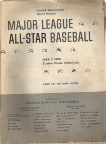 ML All Star Baseball 12th Bicentenial 1959