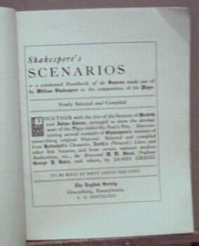 English Society's Shakespere's Scenarios 1914