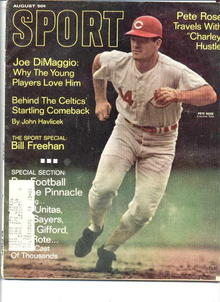 Sport Magazine/Aug.1968/Pete Rose, DiMaggio