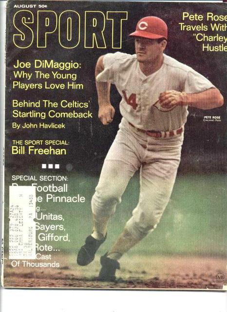 Sport Magazine/Aug.1968/Pete Rose, DiMaggio