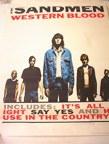 THE SANDMEN WESTERN BLOOD ALBUM POSTER
