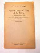 1926 WILLIAM CONGREVE'S WAY OF THE WORLD